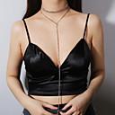 baratos Broches-Mulheres Franjas colares em camadas - Sensual, Europeu Dourado, Prata 28 cm Colar 1pç Para Presente, Diário