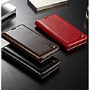 ieftine Cazuri telefon & Protectoare Ecran-Maska Pentru Huawei P20 / P20 Pro Portofel / Titluar Card / Întoarce Carcasă Telefon Mată Greu Piele autentică pentru Huawei P20 / Huawei P20 Pro / Huawei P9 Lite