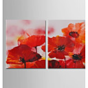 cheap Rolled Canvas Prints-Oil Painting Hand Painted - Abstract / Floral / Botanical Modern Canvas