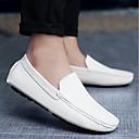 זול נעלי אוקספורד לגברים-בגדי ריקוד גברים מוקסין עור חזיר קיץ נוחות נעליים ללא שרוכים כתום / כחול כהה / כחול ים