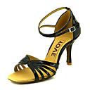preiswerte Kigurumi Pyjamas-Damen Schuhe für den lateinamerikanischen Tanz / Ballsaal Satin Sandalen / Absätze Schnalle Maßfertigung Tanzschuhe Gelb / Fuchsia / Lila