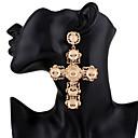preiswerte Ohrringe-Damen Lang Tropfen-Ohrringe Ohrringe Kreuz Modisch Hyperbel Schmuck Gold Für Party / Abend Geschenk 1 Paar