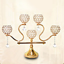 זול נרות ופמוטים-סגנון ארופאי בַּרזֶל פמוטים נר 1pc, מחזיק נר / נרות