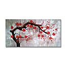 tanie Obrazy: motyw roślinny/botaniczny-Hang-Malowane obraz olejny Ręcznie malowane - Kwiatowy / Roślinny Nowoczesne / Nowoczesny Płótno / Rozciągnięte płótno