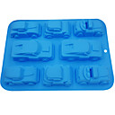 cheap Bakeware-8 Cavity Car Silicone Cake Mold Chocolate Candy Fondant Moulds  Baking