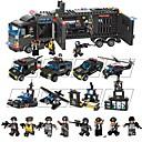baratos Blocos de Montar-Blocos de Construir 1095 pcs Veículos Brinquedos de descompressão Interação pai-filho Para Meninos Para Meninas Brinquedos Dom