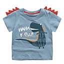 povoljno Majice za Za dječake bebe-Dijete Dječaci Osnovni Jednobojni Kratkih rukava Majica s kratkim rukavima Plava / Dijete koje je tek prohodalo