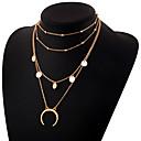 billige Kropssmykker-Dame Lag-på-lag lagdelte Hals - MOON Enkel, Elegant Gull, Sølv 30 cm Halskjeder Smykker 1pc Til Daglig