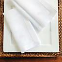 preiswerte Servietten-Ring-Klassisch Baumwolle Quadratisch Platztdeckchen Solide Tischdekorationen 12 pcs