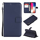 cheap iPhone Cases-Case For Apple iPhone X / iPhone 8 Wallet / Card Holder / Flip Full Body Cases Solid Colored Hard PU Leather for iPhone X / iPhone 8 Plus / iPhone 8