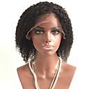 povoljno Perike s ljudskom kosom-Virgin kosa Lace Front Perika Stepenasta frizura Rihanna stil Brazilska kosa Kovrčav Crna Perika 130% Gustoća kose s dječjom kosom Afro-američka perika Žene Kratko Perike s ljudskom kosom Aili Young