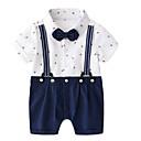 ieftine Set Îmbrăcăminte Băieți Bebeluși-Bebelus Băieți De Bază Peteci Peteci Mânecă scurtă Bumbac O - piesă