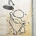 abordables Accesorios de Baño-Etiquetas y cintas Simple / Impermeable / Auto-Adhesivas Ordinario / Dibujos / Modern CLORURO DE POLIVINILO 1pc Decoración de baño