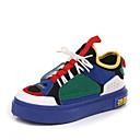 זול סניקרס לנשים-בגדי ריקוד נשים נעליים סטן / PU סתיו נוחות נעלי ספורט שטוח בוהן עגולה לבן / אדום / כחול