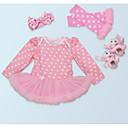 povoljno Haljinice za bebe-Dijete Djevojčice Na točkice Dugih rukava Jednodijelno