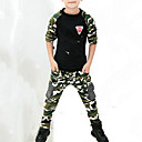 ieftine Seturi Îmbrăcăminte Băieți-Copii Băieți Activ / Șic Stradă Imprimeu / Peteci Imprimeu Manșon Lung Set Îmbrăcăminte