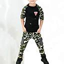 cheap Boys' Clothing Sets-Kids Boys' Active / Street chic Daily Print / Patchwork Print Long Sleeve Regular Rayon Clothing Set Army Green