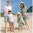 ieftine Set Îmbrăcăminte De Familie-Familie Uite Floral Manșon scurt Set Îmbrăcăminte