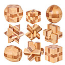 cheap Wooden Puzzles-Luban Lock Creative / Ball Focus Toy Wooden / Bamboo 1 pcs Adults All Gift