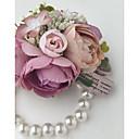 abordables Accessoires de Fête-Fleurs de mariage Boutonnières / Petit bouquet de fleurs au poignet Mariage / Soirée Polyester 3.94 pouce