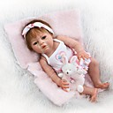 cheap Masks-NPKCOLLECTION NPK DOLL Reborn Doll Girl Doll Baby Girl 22 inch Full Body Silicone Silicone Vinyl - Newborn Cute Child Safe Non Toxic Tipped and Sealed Nails Natural Skin Tone Kid's Girls' Toy Gift