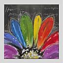 povoljno Ulja na platnu-Hang oslikana uljanim bojama Ručno oslikana - Cvjetni / Botanički Moderna Uključi Unutarnji okvir / Prošireni platno