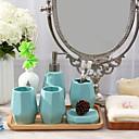ieftine Soap Dispensers-Set Accesorii Baie Multifuncțional Contemporan Lemn 4 buc - Baie
