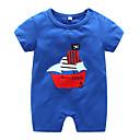 ieftine Set Îmbrăcăminte Băieți Bebeluși-Bebelus Unisex Activ Dungi Mânecă scurtă Poliester O - piesă Albastru piscină 59