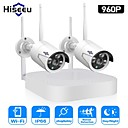 cheap Wireless CCTV System-Hiseeu 4CH Wireless CCTV Camera System 960P 1.3MP IP Camera Waterproof P2P Home Security System Video Surveillance Kits