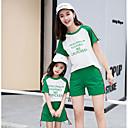 ieftine Set Îmbrăcăminte De Familie-Mama și cu mine De Bază Sport Scrisă Manșon scurt Set Îmbrăcăminte