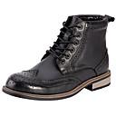ieftine Oxfords Bărbați-Bărbați Fashion Boots Piele Primăvara & toamnă Confortabili Cizme Negru / Maro