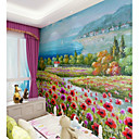povoljno Zidne tapete-ručno oslikana primorska pejzaža krajolik po mjeri zidne obloge 3d wallpapera pozadina pogodna za restorane spavaća soba kafić