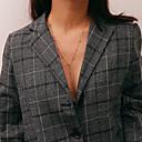 ieftine Colier la Modă-Pentru femei În Straturi Coliere Layered - De Bază, Dulce Încântător Auriu, Argintiu 30+7 cm Coliere Bijuterii 1 buc Pentru Cadou, Zilnic