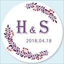 preiswerte Kleider für Babys-Hochzeit Aufkleber, Etiketten und Schilder - 48 pcs Kreisförmig Aufkleber / Umschlag-Aufkleber Ganzjährig