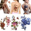 billige Midlertidige tatoveringer-Klistermærke / Tattoo Sticker skulder Midlertidige Tatoveringer 3 pcs Blomster Serier Kropskunst