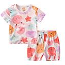 ieftine Set Îmbrăcăminte Bebeluși-Bebelus Fete Geometric Manșon scurt Set Îmbrăcăminte