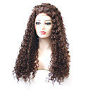 cheap Synthetic Lace Wigs-Synthetic Lace Front Wig Curly Layered Haircut 180% Density Synthetic Hair With Baby Hair / Heat Resistant / Elastic Brown Wig Women's Long Lace Front Dark Auburn / Fashion / Yes
