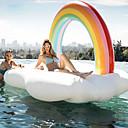 baratos Carros de brinquedo-Arco-Íris Brinquedos Infláveis de Piscina PVC Durável, Inflável Esportes Aquáticos / Canoagem - Rafting para Adulto 210*140*135 cm