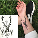 abordables Tatuajes Temporales-Adhesivo / Pegatina tatuaje brazo / muñeca / hombro Los tatuajes temporales 10 pcs Series de Animal Artes de cuerpo
