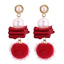 ieftine Cercei la Modă-Pentru femei Perle Cercei Picătură - Imitație de Perle Vintage, Modă Gri / Rosu / Bleumarin Pentru Party / Seara Gril pe Kamado