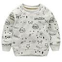 ieftine Băieți & Copil Hoodies & Bluze-Bebelus Băieți Activ Geometric Manșon Lung Bumbac Hanorac / Copil