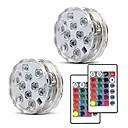 abordables Stickers de Ventana-2pcs 5 W Luces Bajo el Agua Nuevo diseño / Control remoto / Regulable RGB 4.5 V Conveniente para los floreros y los acuarios