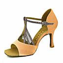 abordables Zapatos de Baile Latino-espumosos brillo superior zapatos de baile latino sandalias de las mujeres personalizadas con cremallera