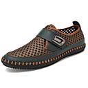 זול נעלי ספורט לגברים-בגדי ריקוד גברים מוקסין דמוי עור קיץ נעליים ללא שרוכים אפור / חום / ירוק