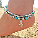 cheap Anklet-Turquoise Anklet - Elephant, Animal, Starfish Vintage, Bohemian, Fashion Turquoise For Going out / Bikini / Women's