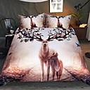 cheap Floral Duvet Covers-Duvet Cover Sets 3D Polyster Reactive Print 3 Piece