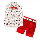 ieftine Pantaloni Băieți-Copii Băieți Activ / Șic Stradă Zilnic Imprimeu Imprimeu Fără manșon Regular Celofibră Set Îmbrăcăminte Roșu-aprins 100