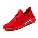 זול נעלי ספורט לילדים-בגדי ריקוד גברים אור סוליות בד גמיש אביב קיץ ספורטיבי / יום יומי נעלי אתלטיקה נושם שחור / אפור / אדום