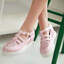 povoljno Ženske ravne cipele-Žene PU Ljeto Udobne cipele Ravne cipele Creepersice Zatvorena Toe Kopča Obala / Pink