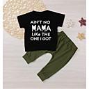 ieftine Set Îmbrăcăminte Băieți Bebeluși-Bebelus Băieți Activ Imprimeu Manșon scurt Lung Bumbac Set Îmbrăcăminte
